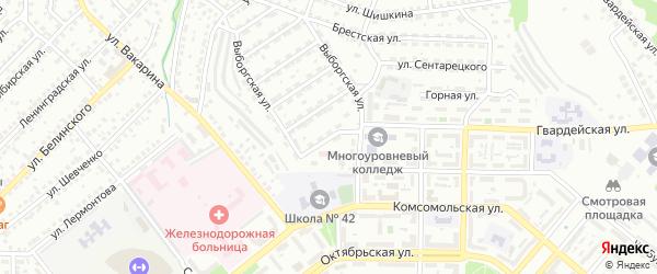 Дунайская улица на карте Улан-Удэ с номерами домов