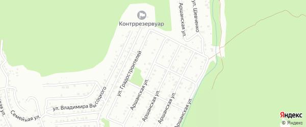 Улица Градостроителей на карте Улан-Удэ с номерами домов