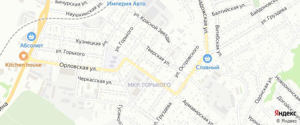 Челябинский переулок на карте Улан-Удэ с номерами домов