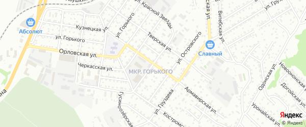 Челябинская улица на карте Улан-Удэ с номерами домов