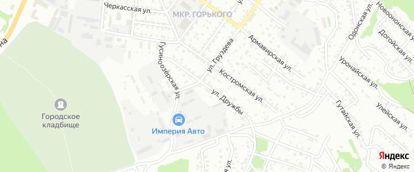 Улица Дружбы на карте Улан-Удэ с номерами домов