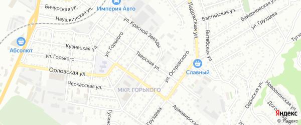 Тверская улица на карте Улан-Удэ с номерами домов