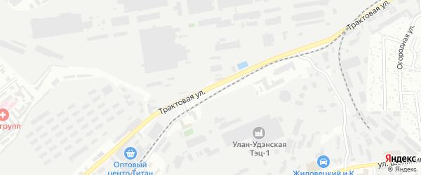 Трактовая улица на карте Улан-Удэ с номерами домов