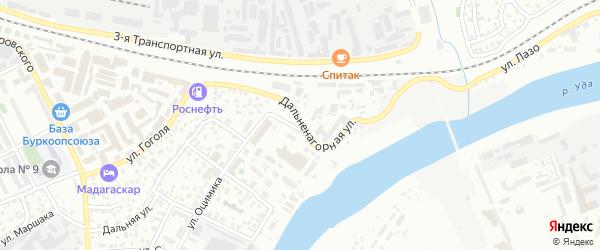Дальненагорная улица на карте Улан-Удэ с номерами домов