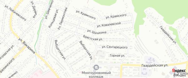 Брестская улица на карте Улан-Удэ с номерами домов