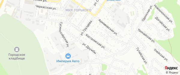 Костромская улица на карте Улан-Удэ с номерами домов