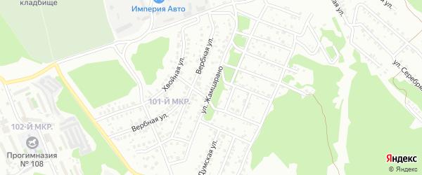 Улица Жамцарано на карте Улан-Удэ с номерами домов