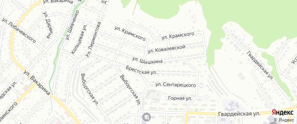 Улица Шишкина на карте Улан-Удэ с номерами домов