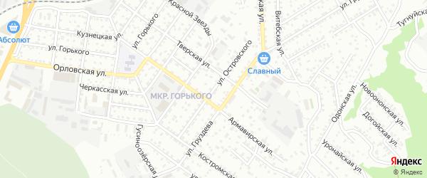 Улица Островского на карте Улан-Удэ с номерами домов