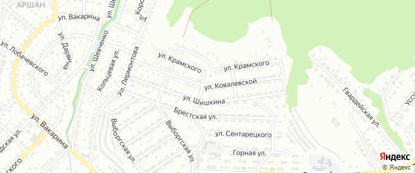 Улица Ковалевской на карте Улан-Удэ с номерами домов