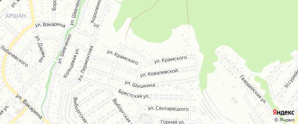 Улица Крамского на карте Улан-Удэ с номерами домов