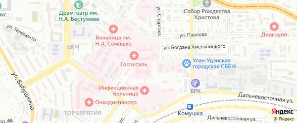 Улица Пирогова на карте Улан-Удэ с номерами домов