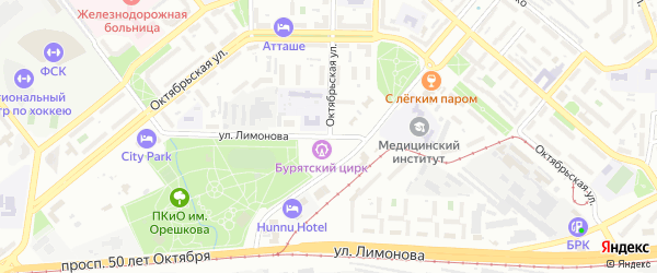 Улица Лимонова на карте Улан-Удэ с номерами домов