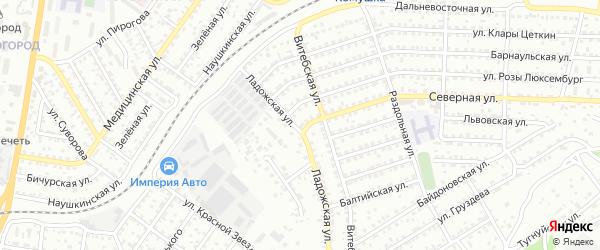 Улица Северная проезд 1 на карте Улан-Удэ с номерами домов