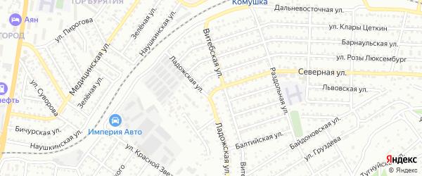 Улица Северная проезд 3 на карте Улан-Удэ с номерами домов