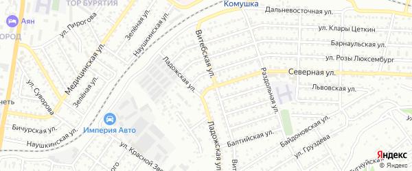 Улица Северная проезд 5 на карте Улан-Удэ с номерами домов