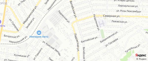 Ладожская улица на карте Улан-Удэ с номерами домов