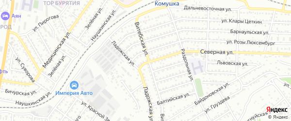 Улица Северная проезд 7 на карте Улан-Удэ с номерами домов