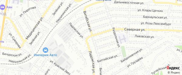 Улица Северная проезд 4 на карте Улан-Удэ с номерами домов