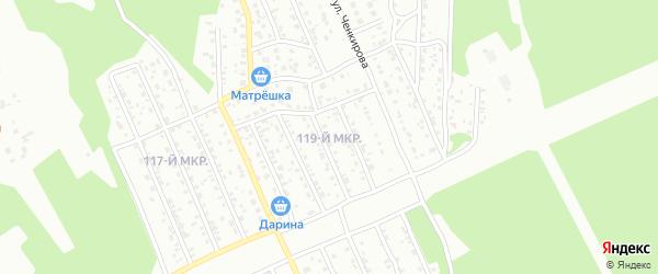 119-й микрорайон на карте Улан-Удэ с номерами домов