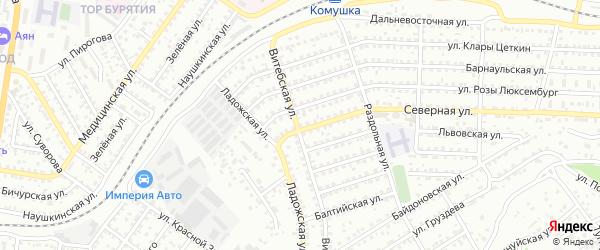 Улица Северная 2-я проезд 9 на карте Улан-Удэ с номерами домов