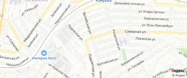 Улица Северная проезд 6 на карте Улан-Удэ с номерами домов