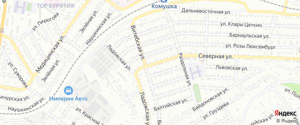 Улица Северная-2 проезд 11 на карте Улан-Удэ с номерами домов