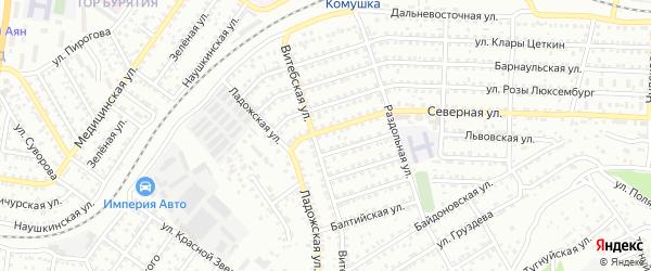 Улица Северная проезд 8 на карте Улан-Удэ с номерами домов