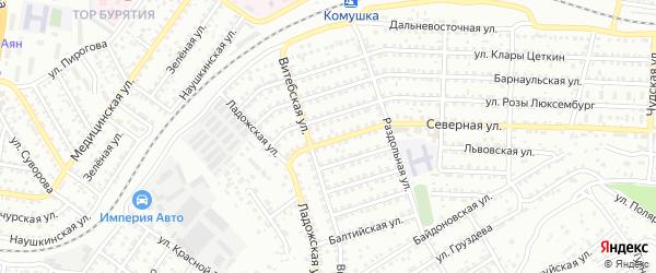 Улица Северная проезд 13 на карте Улан-Удэ с номерами домов