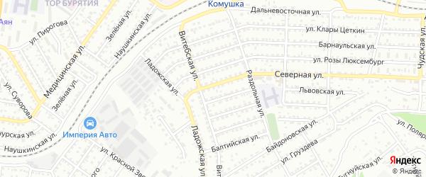 Улица Северная проезд 10 на карте Улан-Удэ с номерами домов