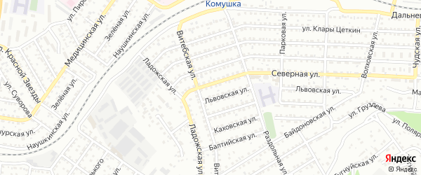 Улица Северная 2-я проезд 10 на карте Улан-Удэ с номерами домов