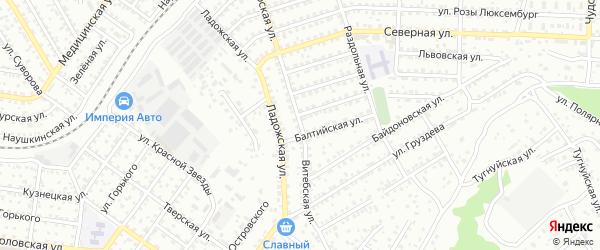 Витебская улица на карте Улан-Удэ с номерами домов