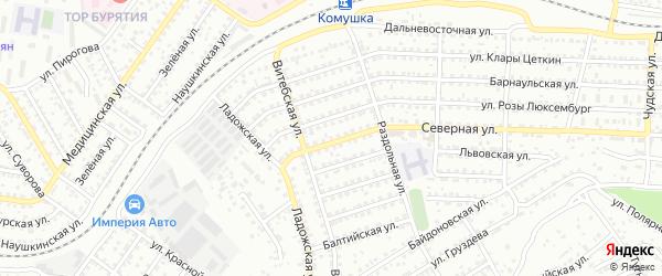 Улица Северная проезд 15 на карте Улан-Удэ с номерами домов