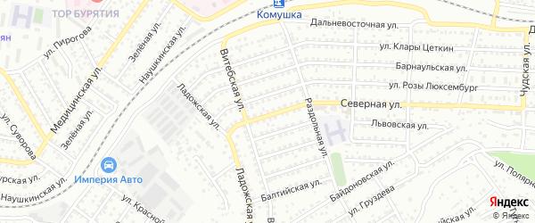 Улица Северная 2-я проезд 15 на карте Улан-Удэ с номерами домов