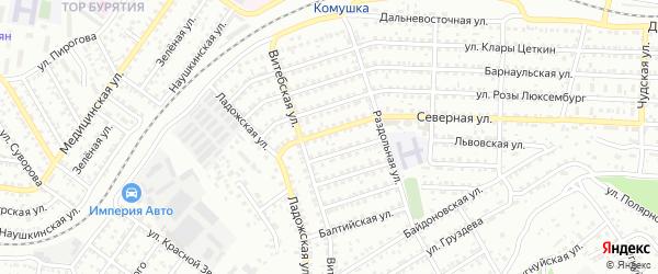 Улица Северная проезд 12 на карте Улан-Удэ с номерами домов