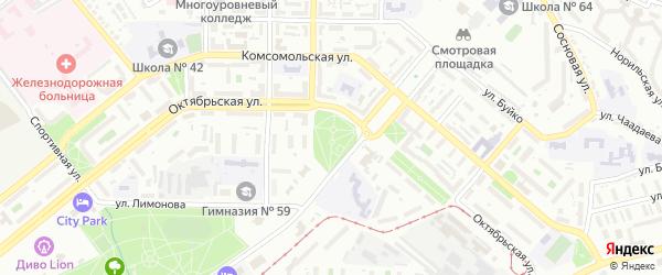 Улица Радуга на карте территории ДНТ Радуги с номерами домов
