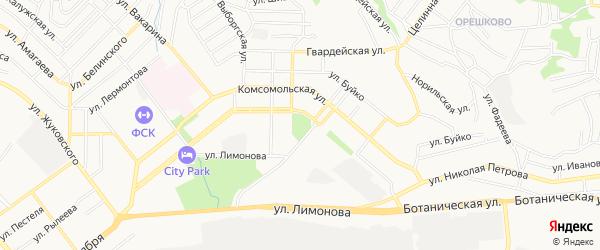 Территория ДНТ Радуга на карте Улан-Удэ с номерами домов