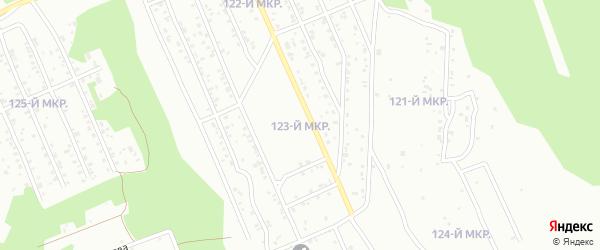 123-й микрорайон на карте Улан-Удэ с номерами домов