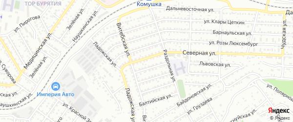 Улица Северная 2-я проезд 14 на карте Улан-Удэ с номерами домов