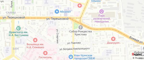 Ткацкая улица на карте Улан-Удэ с номерами домов