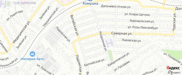 Улица Северная проезд 16 на карте Улан-Удэ с номерами домов