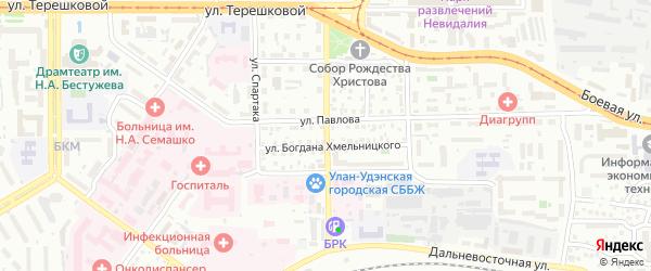 Улица З.Космодемьянской на карте Улан-Удэ с номерами домов