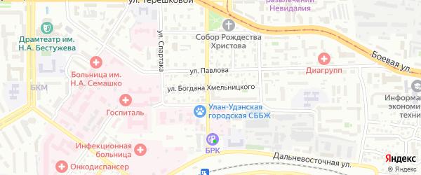 Улица Б.Хмельницкого на карте Улан-Удэ с номерами домов