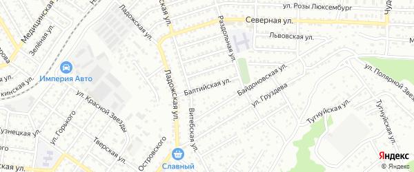 Балтийская улица на карте Улан-Удэ с номерами домов