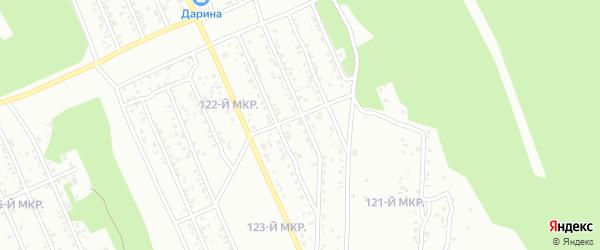 122-й микрорайон на карте Улан-Удэ с номерами домов