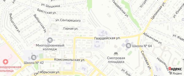 Гвардейская улица на карте Улан-Удэ с номерами домов