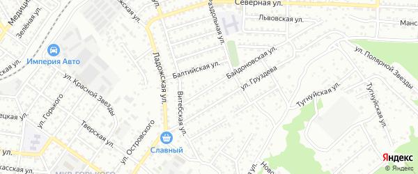Байдоновская улица на карте Улан-Удэ с номерами домов