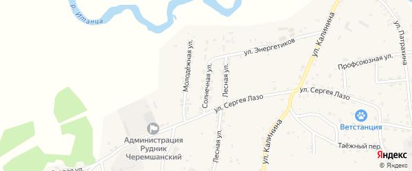 Солнечная улица на карте села Турунтаево с номерами домов