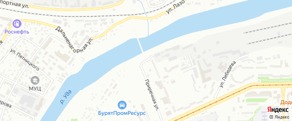 Улица Радиостанция на карте Улан-Удэ с номерами домов