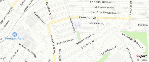 Раздольная улица на карте Улан-Удэ с номерами домов
